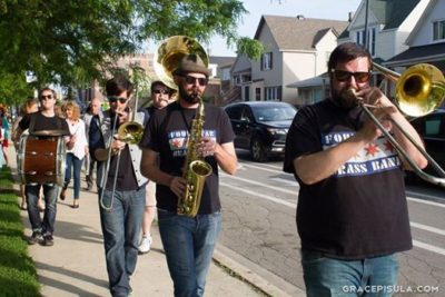 Four Star Brass band at Avondale Restaurant Crawl 2015