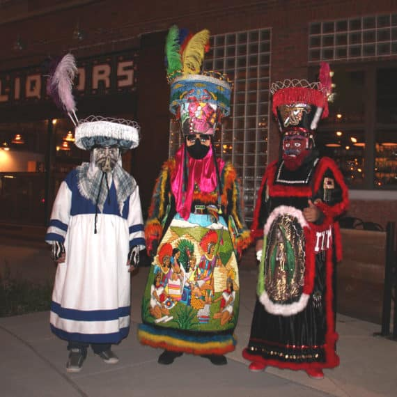 Chinelo dancers at Day of the Dead celebration 2016