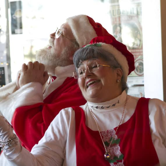 Santa and Mrs. Claus at City Newsstand 2016