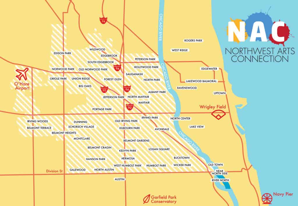 Northwest Arts Connection boundary map
